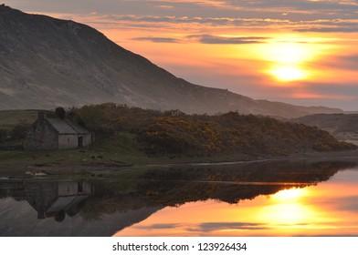Sunset at River Naver, Bettyhill, Sutherland, Scotland, UK