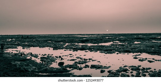 Sunset at Rocky Daman Beach