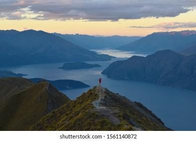 Sunset at Roy's Peak, New Zealand