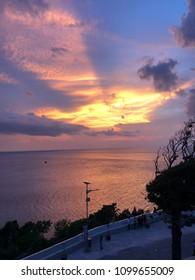 Sunset in sabang Island Aceh