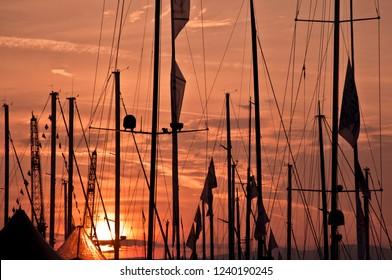 Sunset Sailing Clouds