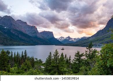 Sunset at Saint Mary lake