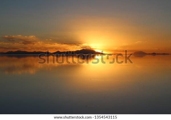 Sunset Salar De Uyuni Bolivia Stock Photo Edit Now 1354543115