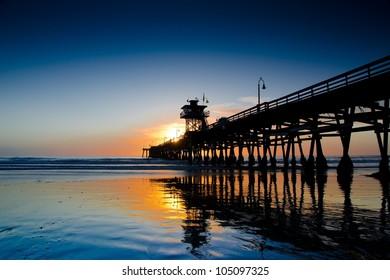 Sunset at San Clemente Pier California