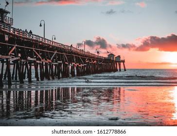 Sunset at San Clemente Pier/Beach
