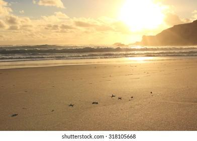 Sunset at sandy beach ,Sorrento, Mornington Peninsula,Victoria, Australia