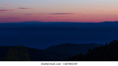 Sunset in Santa Fe Mountains
