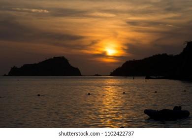 Sunset at Santa Marta Colombia at el Rodadero