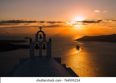 Sunset in Santorini. Greece.