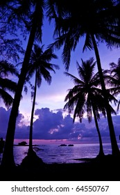 Sunset scene on the sea ,Thailand