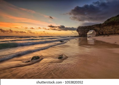 Sunset scenery at Bawana Beach, Sumba Island, Indonesia