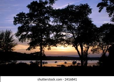 Sunset scenery, Long Island, NY