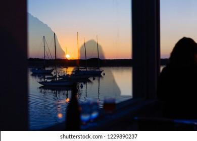 Sunset scenery in Morro bay