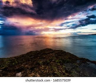 sunset scenery at Pero Beach, Sumba, Indonesia