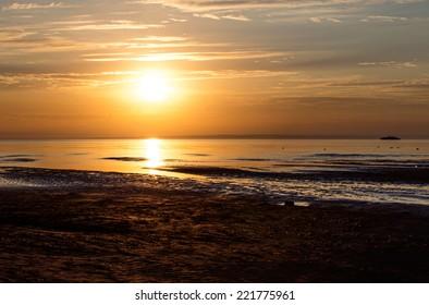 sunset sea.