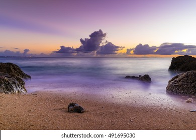 Sunset, Sea, landscape. Okinawa, Japan.
