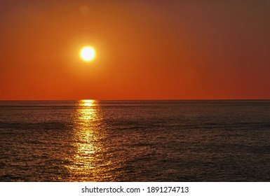 Sunset at the sea in summer