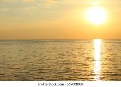 Sunset and sea in Thailand