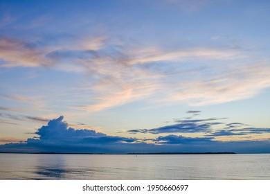 Sunset at Seasalter Beach, Whitstable, Kent, UK