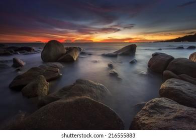 Sunset seascape