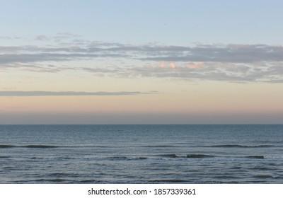 sunset seascape at the north sea
