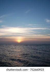sunset in seaside