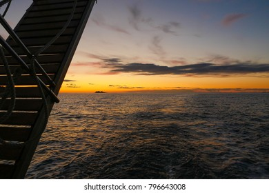 Sunset as seen from a boat