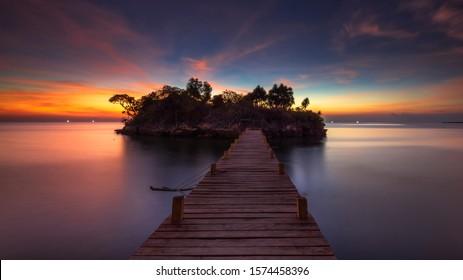 Sunset at Selayar Island, South Celebes