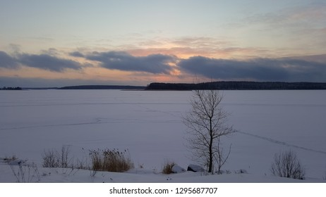 Sunset at Seliger lake