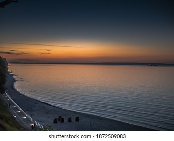 Sunset in Sellin on the island of Ruegen