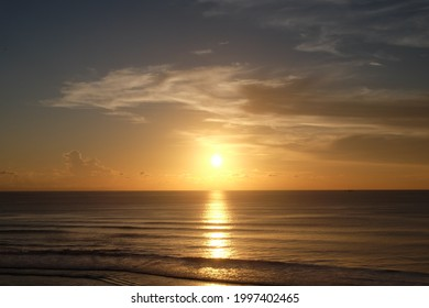 sunset at seminyak beack bali indonesia February 2015