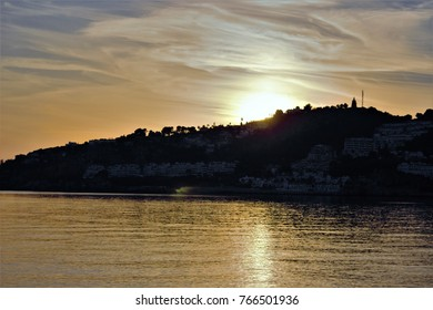 Sunset sequence in the Mediterranean sea,peace, calm, serenity, harmony, fullness, well-being, nature, natural, contemplate, meditate, breathe, grow, happiness, tranquility, fullness, integration,