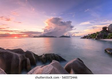 Sunset at Seychelles