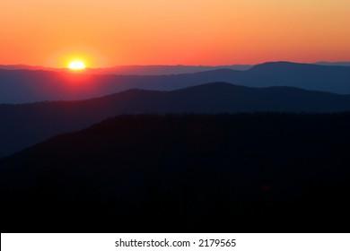 Sunset in Shenandoah