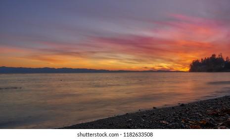 Sunset from shoreline!