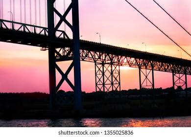 Sunset Shots of the Ambassador Bridge