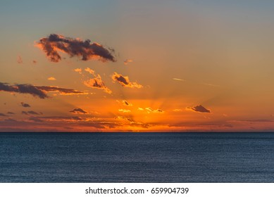 Sunset in sicily