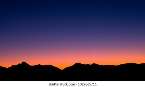 Sunset Silhouette in the heart of the Flinders-Ikara Ranges National Park, South Australia