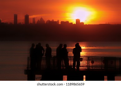 Sunset Silhouttes of Istanbul