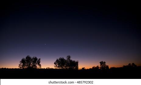 Sunset in the Simpson Desert, Northern Territory, Australia