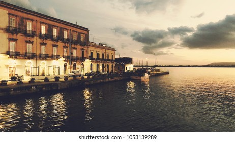 Sunset in Siracusa Sicily Italy