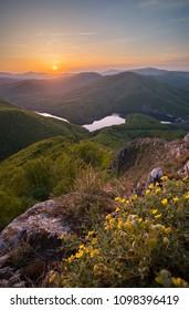 sunset at Sivec mountain near Kosice, slovakia, europe