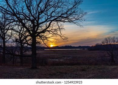 Sunset at Sixmile Creek in Minnesota