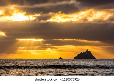 Sunset Skellig Islands, Kerry
