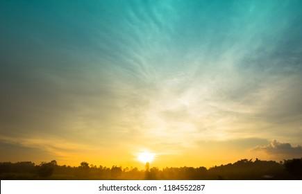 Sunset sky abtrack background