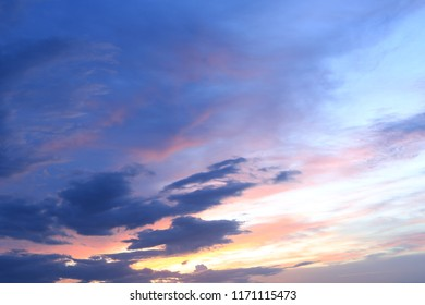 Sunset Sky Background , Colorful sky in twilight time background