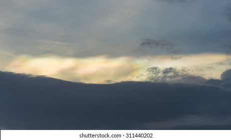 Sunset Sky Background, Irisation or Iridescent clouds