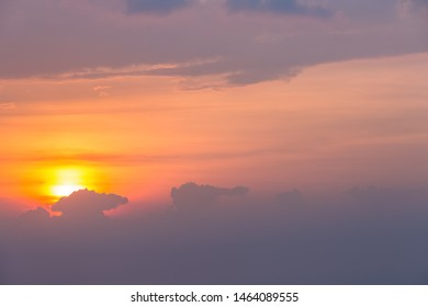 sunset sky background in summer