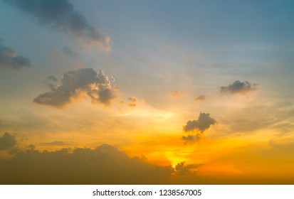 Sunset Sky Background in winter
