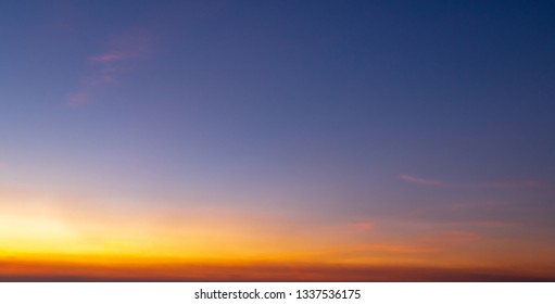 Sunset sky for background,sunrise sky and cloud at morning.